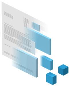 Transformation von Papier in Datenblöcke